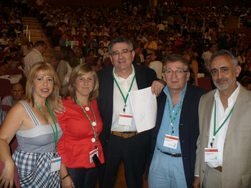 Pizarro, junto a Mamen, la alcaldesa de Sanlúcar y Cabañas representan a la provincia en el Comité Regional de Andalucía.